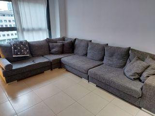 Sofá esquinero gris