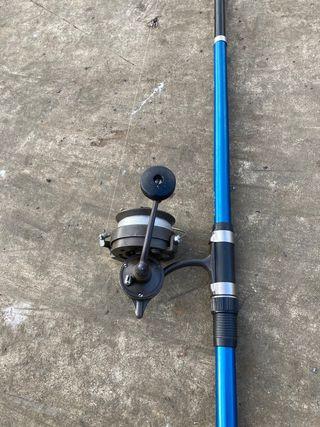 Caña telescópica y carrete pesca