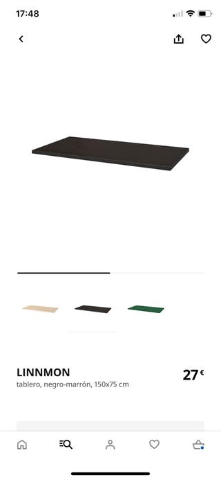 Tablero linnmon de ikea 150x75 negro marron