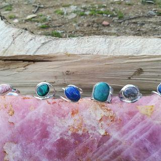 Anillos de plata de Ley con piedras naturales