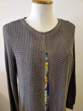 Chaqueta de lana, color gris oscuro
