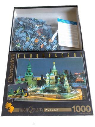 moscu puzzle fluorescent clementoni 1000 piezas ,