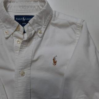 Camisa blanca RALPH LAUREN. 24 meses