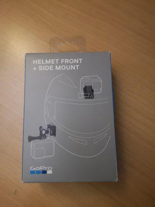 GoPro piezas soporte casco frontal y lateral