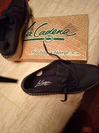 zapatillas esparto hechas a mano num 38