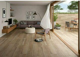 Suelo de exterior efecto madera