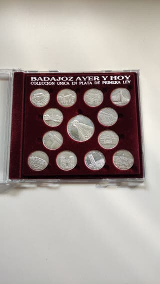 "Monedas de plata ""Badajoz ayer y hoy"""