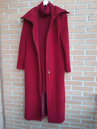 Conjunto de vestido y abrigo Purificación
