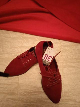 zapatos granates 38