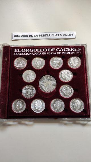"""Colección de monedas de plata """"orgullo de Cáceres"""""""