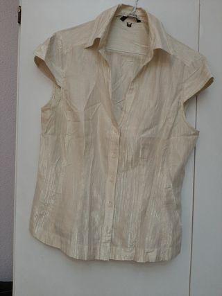 blusa manga corta dorada