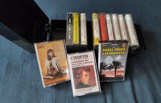 Caja para transportar cintas de Cassettes vintage
