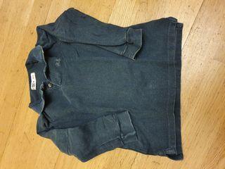 119. Polo algodón manga larga 2-3 años azul