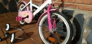 """Bicicleta niña 16"""" hasta 6/7 años"""