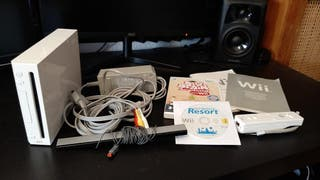Nintendo Wii Consola + Mando + 3 juegos.