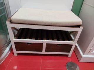 descalzador madera con cajones 65x34x43