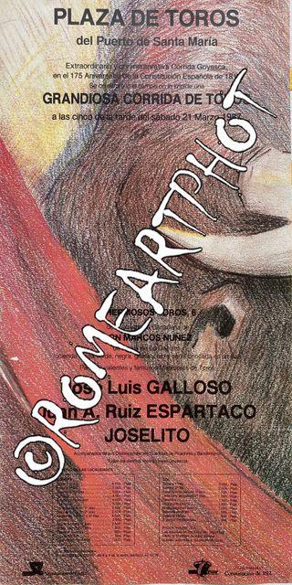 Cartel toros El Puerto Santa María 21-03-1987