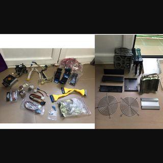 Piezas varias de ordenador y placa base
