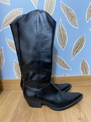 Botas altas Zara de piel