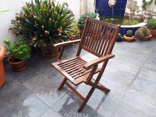 Conjunto mesa y sillas de jardín