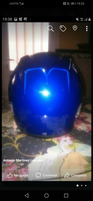 casco agv azul