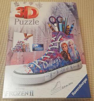 Puzzle 3d Frozen II portalapices. Con el plástico!