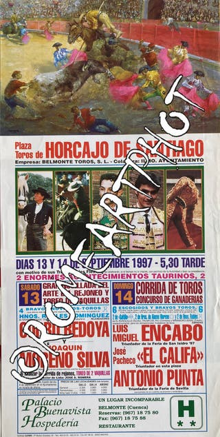 Cartel toros Horcajo Santiago Feria 1997