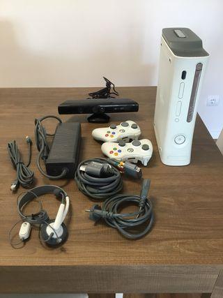 Xbox 360 elite + 2 mandos + Kinect + Juegos
