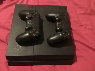 ps4 con juegos y mando