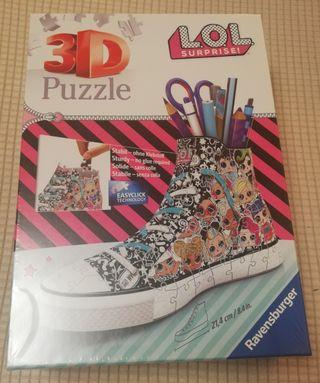 Puzzle 3D LOL Surprise! ¡Con el plástico!