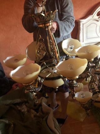 Lámparas para salón en bronce