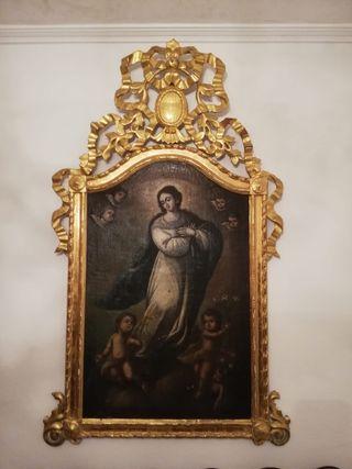 Lienzo al óleo de Virgen