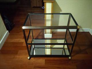 mesa de cristal con ruedas TV