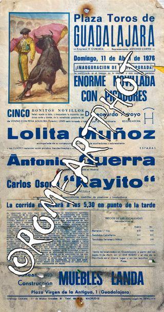 Cartel Toros Guadalajara Novillada 11-04-1970