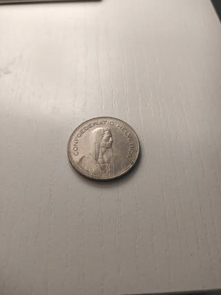 Moneda 5 Fr. ( Francos ) Suiza