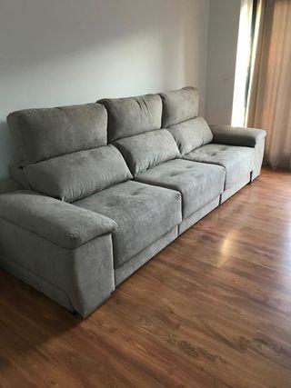 Sofa de 3 amplias plazas con sillones extraibles