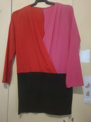 jersey rojo y fusia