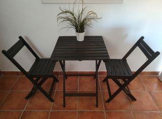 Mesa y sillas teca,jardín, terraza,interior/exteri