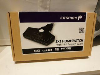 Conmutador HDMI 4K 3 puertos