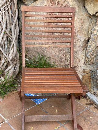 4 sillas de madera exterior