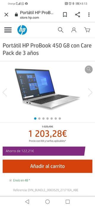 Ordenador portátil HP Probook 450 G8