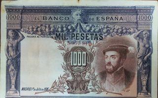 Billete de 1000 pesetas de 1925
