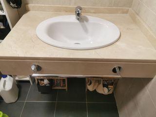encimera + lavabo + grifo