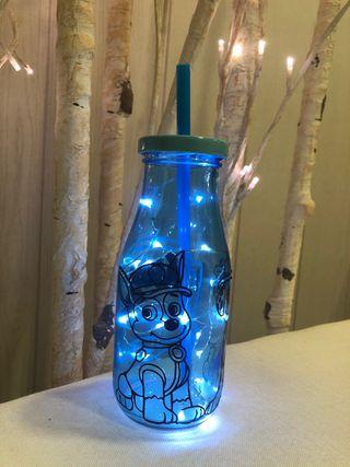 Botella cristal personalizada.