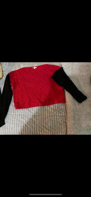 Jersey rojo y negro