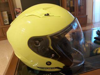 casco jet con gafas
