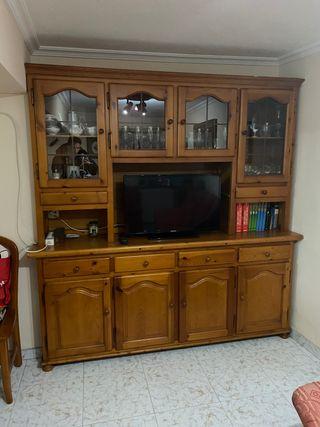 Mueble de madera de pino macizo como nuevo
