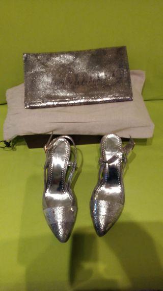 Zapatos y bolso a juego de vestir