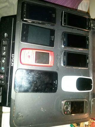 lote de 9 móviles funcionan casi todos