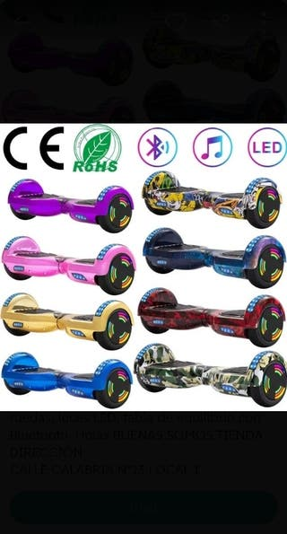 Hoverboard con altavoz luces LED etc